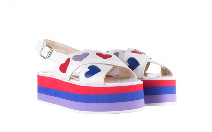 Sandały bayla-176 19136 biały, skóra naturalna  - bayla - nasze marki 1