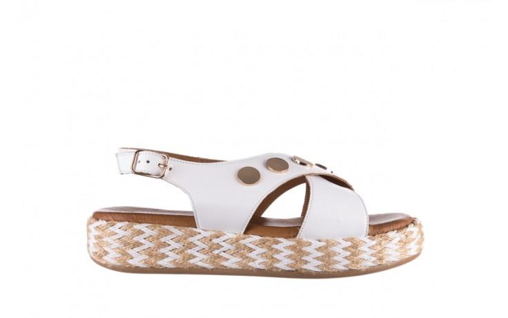 Sandały bayla-176 1414 biały, skóra naturalna  - na platformie - sandały - buty damskie - kobieta