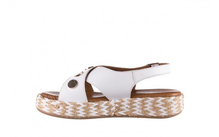 Sandały bayla-176 1414 biały, skóra naturalna  - na platformie - sandały - buty damskie - kobieta 2