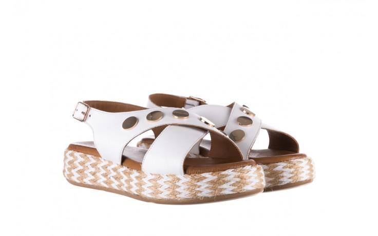 Sandały bayla-176 1414 biały, skóra naturalna  - na platformie - sandały - buty damskie - kobieta 1
