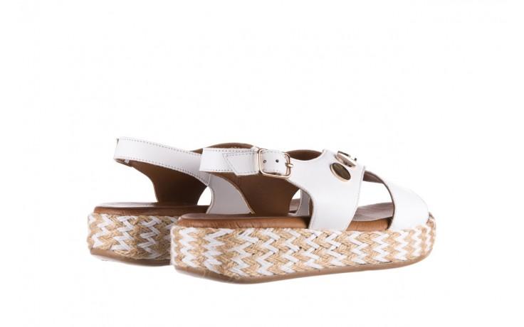 Sandały bayla-176 1414 biały, skóra naturalna  - na platformie - sandały - buty damskie - kobieta 3