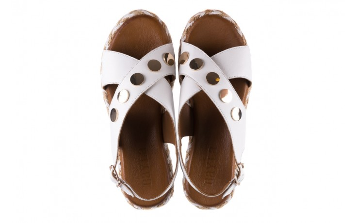 Sandały bayla-176 1414 biały, skóra naturalna  - na platformie - sandały - buty damskie - kobieta 4