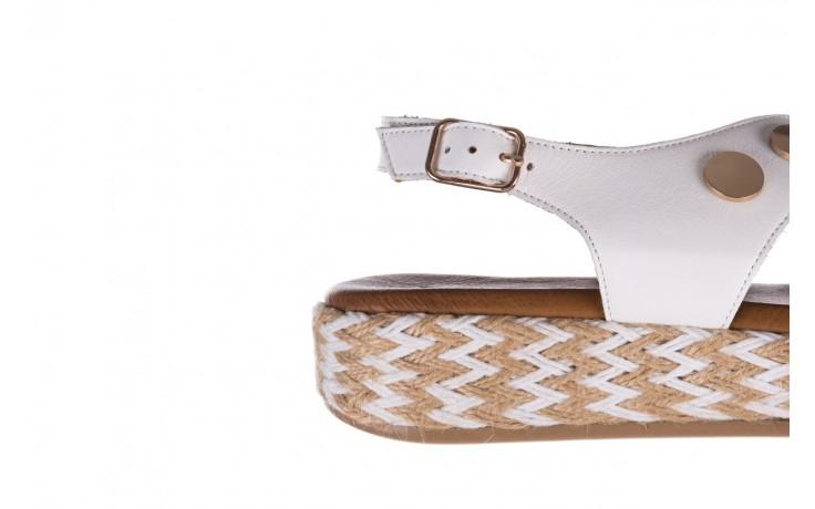 Sandały bayla-176 1414 biały, skóra naturalna  - na platformie - sandały - buty damskie - kobieta 6