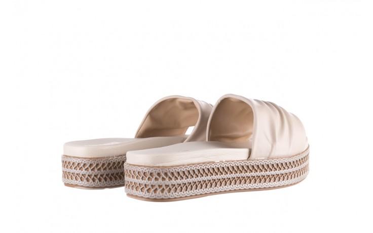 Klapki azaleia 397 190 napa stretch ivory, beż, skóra ekologiczna  - klapki - buty damskie - kobieta 3