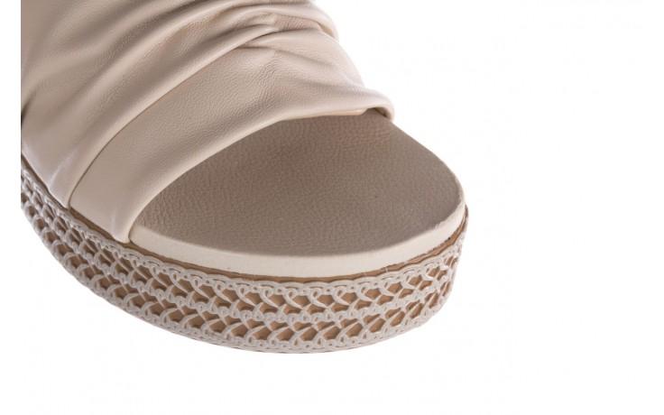 Klapki azaleia 397 190 napa stretch ivory, beż, skóra ekologiczna  - klapki - buty damskie - kobieta 5