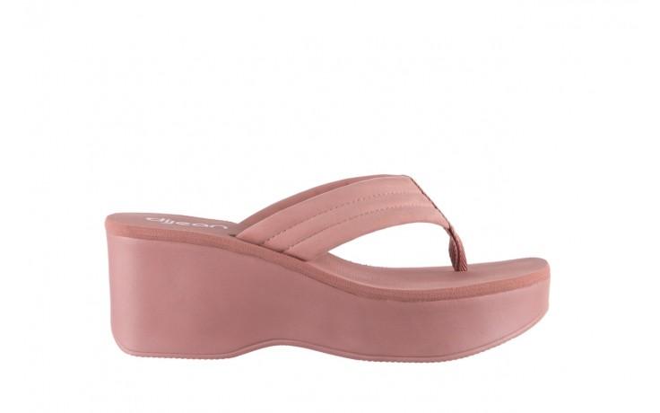 Klapki dijean 276 209 nobuck old pink, róż, materiał - gumowe/plastikowe - klapki - buty damskie - kobieta
