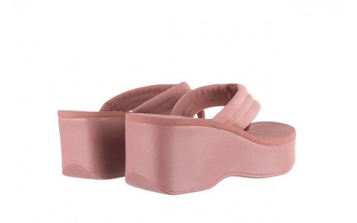 Klapki dijean 276 209 nobuck old pink, róż, materiał - gumowe/plastikowe - klapki - buty damskie - kobieta 3