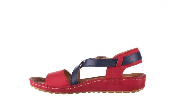Sandały bayla-100 420 niebieski czerwony, skóra naturalna  - bayla - nasze marki 2