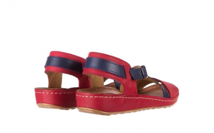 Sandały bayla-100 420 niebieski czerwony, skóra naturalna  - bayla - nasze marki 3