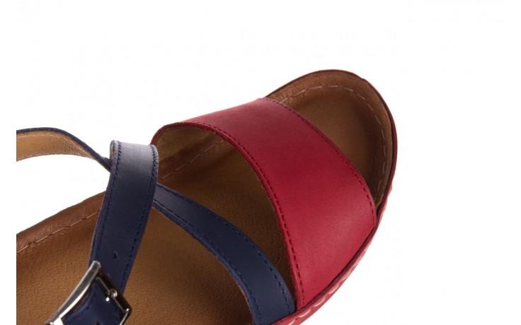 Sandały bayla-100 420 niebieski czerwony, skóra naturalna  - bayla - nasze marki 5
