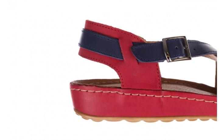 Sandały bayla-100 420 niebieski czerwony, skóra naturalna  - bayla - nasze marki 6