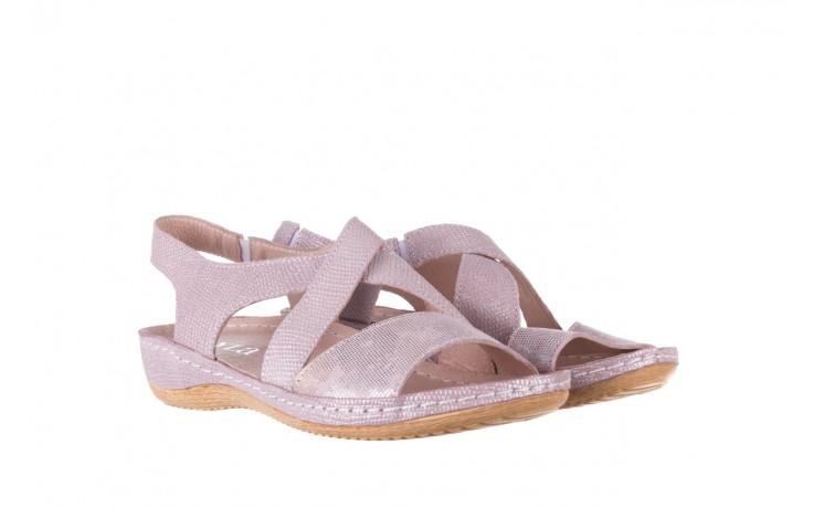 Sandały bayla-100 449 lila, skóra naturalna  - bayla - nasze marki 1