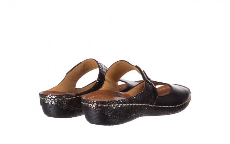 Klapki bayla-100 450 czarny, skóra naturalna 3