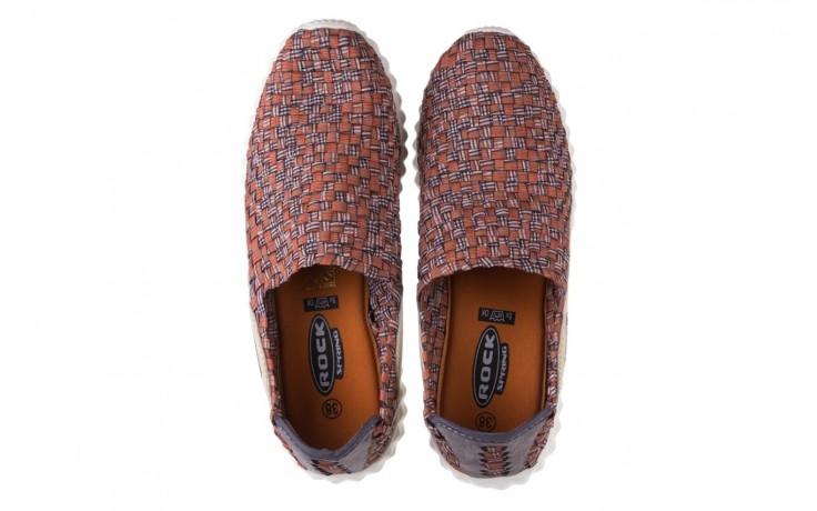 Półbuty rock alen dk orange pattern, pomarańczowy, materiał  - rock - nasze marki 4