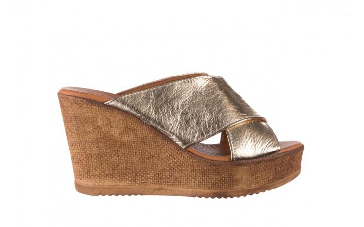 Koturny bayla-179 9104 złoty, skóra naturalna  - koturny - buty damskie - kobieta
