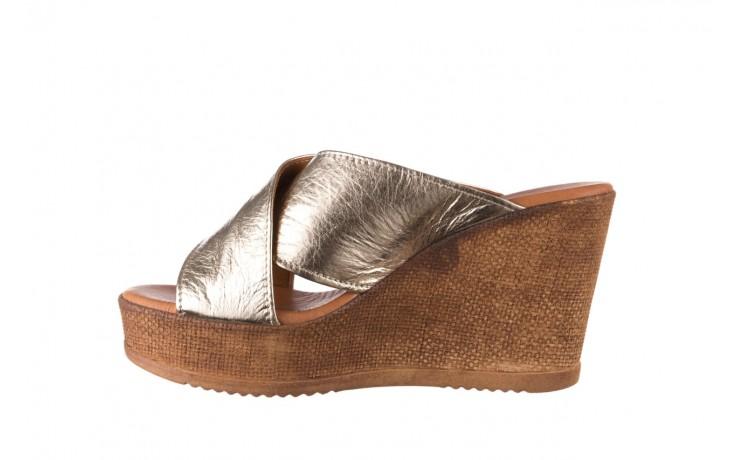 Koturny bayla-179 9104 złoty, skóra naturalna  - koturny - buty damskie - kobieta 2