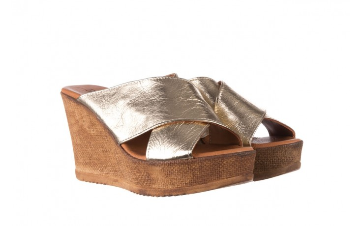 Koturny bayla-179 9104 złoty, skóra naturalna  - koturny - buty damskie - kobieta 1