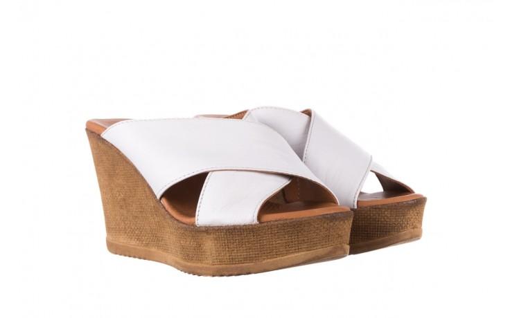 Koturny bayla-179 9104 biały, skóra naturalna  - koturny - buty damskie - kobieta 1