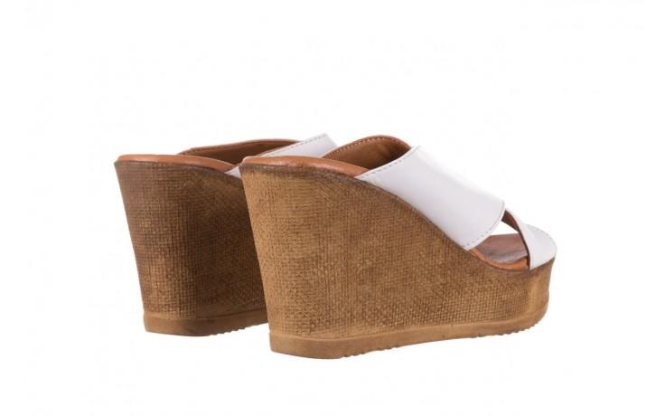 Koturny bayla-179 9104 biały, skóra naturalna  - koturny - buty damskie - kobieta 3