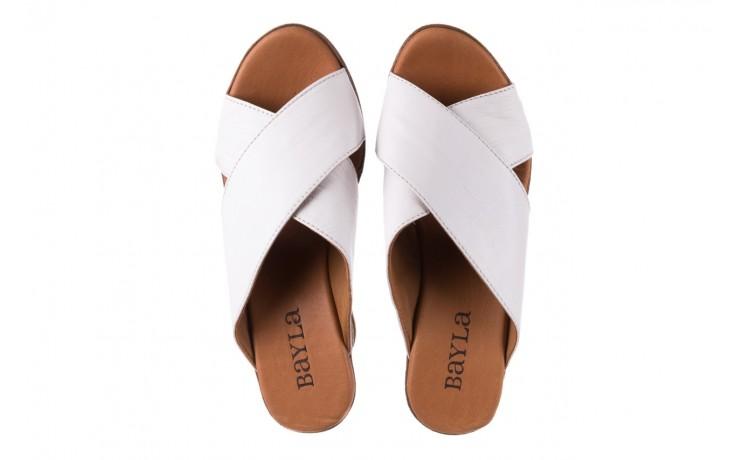 Koturny bayla-179 9104 biały, skóra naturalna  - koturny - buty damskie - kobieta 4