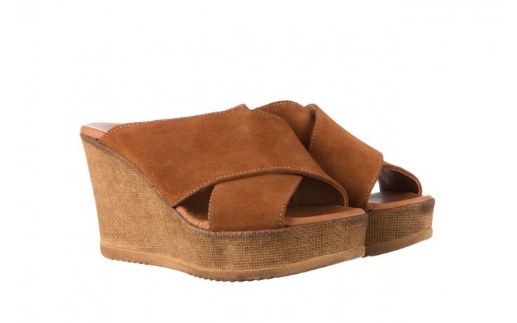 Koturny bayla-179 9104 brąz zamsz, skóra naturalna  - koturny - buty damskie - kobieta 1