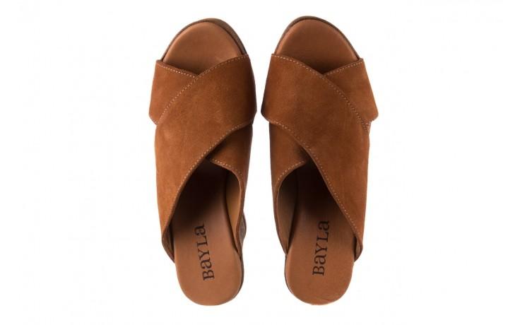 Koturny bayla-179 9104 brąz zamsz, skóra naturalna  - koturny - buty damskie - kobieta 4