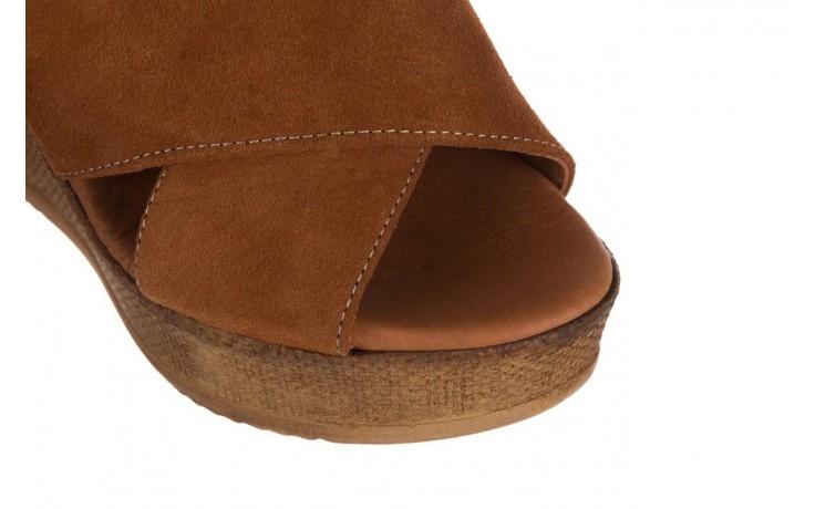 Koturny bayla-179 9104 brąz zamsz, skóra naturalna  - koturny - buty damskie - kobieta 5