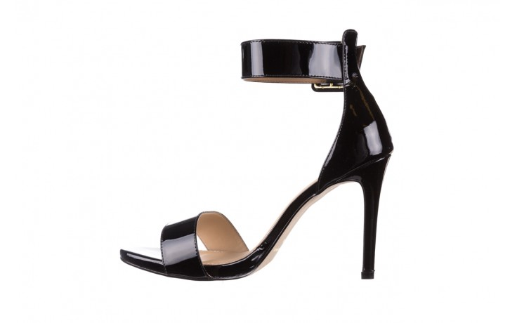 Sandały bayla-065 6189496 czarny, skóra naturalna lakierowana - na obcasie - sandały - buty damskie - kobieta 2