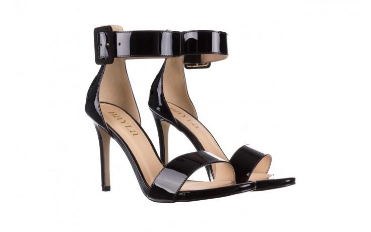Sandały bayla-065 6189496 czarny, skóra naturalna lakierowana - na obcasie - sandały - buty damskie - kobieta 1