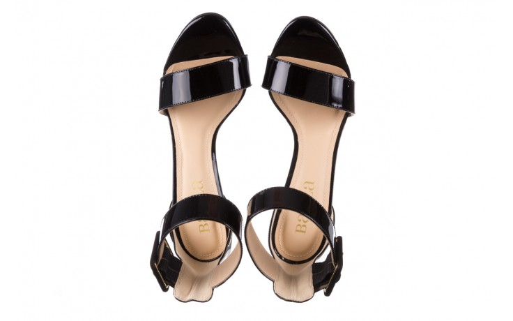 Sandały bayla-065 6189496 czarny, skóra naturalna lakierowana - na obcasie - sandały - buty damskie - kobieta 4