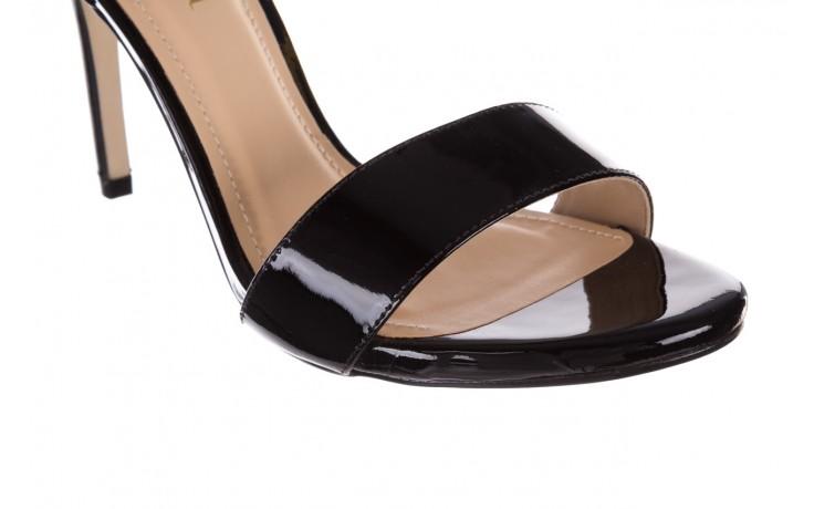 Sandały bayla-065 6189496 czarny, skóra naturalna lakierowana - na obcasie - sandały - buty damskie - kobieta 5