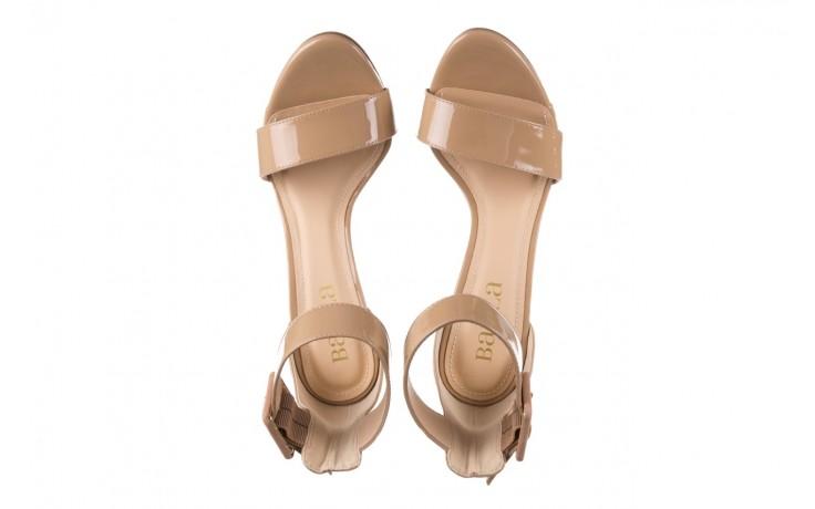 Sandały bayla-065 6189496 beż, skóra naturalna lakierowana 4