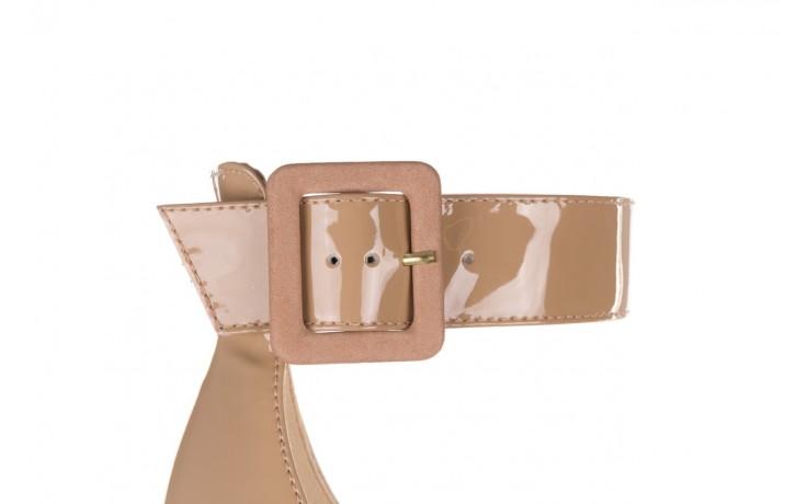 Sandały bayla-065 6189496 beż, skóra naturalna lakierowana 6