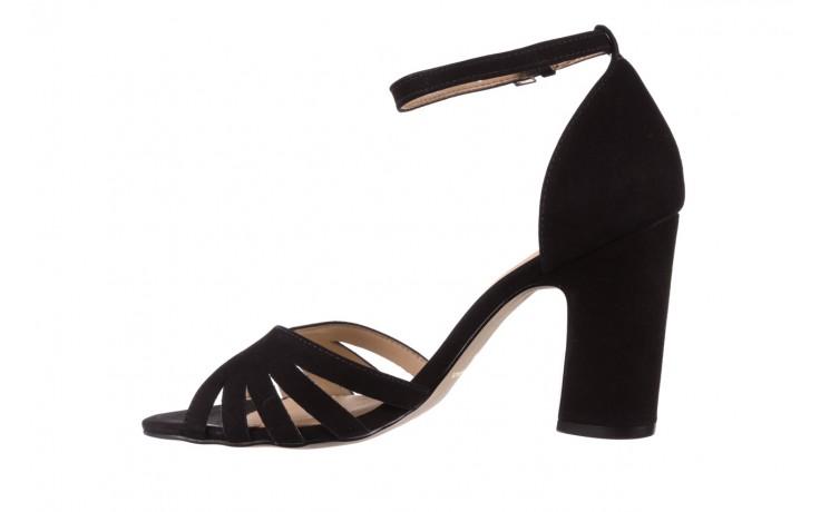 Sandały bayla-065 6140138 czarny, skóra naturalna  - rozmiar 36 - kobieta - mega okazje - ostatnie rozmiary 2