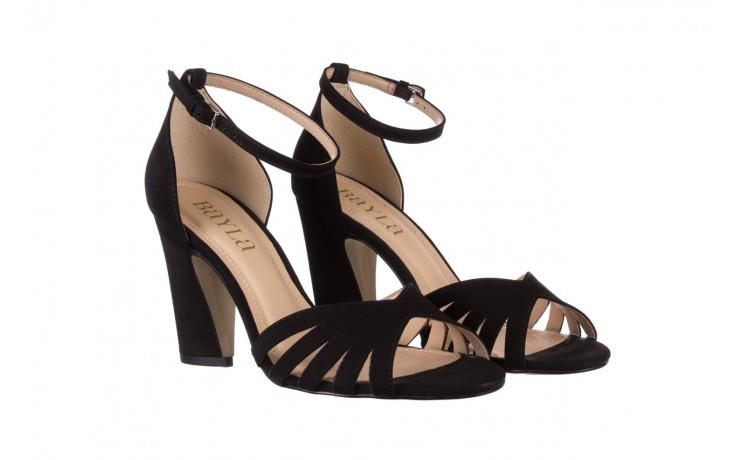 Sandały bayla-065 6140138 czarny, skóra naturalna  - rozmiar 36 - kobieta - mega okazje - ostatnie rozmiary 1