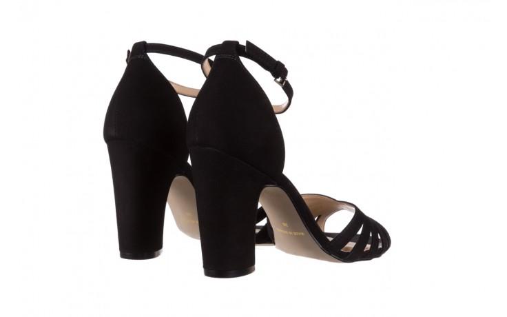 Sandały bayla-065 6140138 czarny, skóra naturalna  - rozmiar 36 - kobieta - mega okazje - ostatnie rozmiary 3