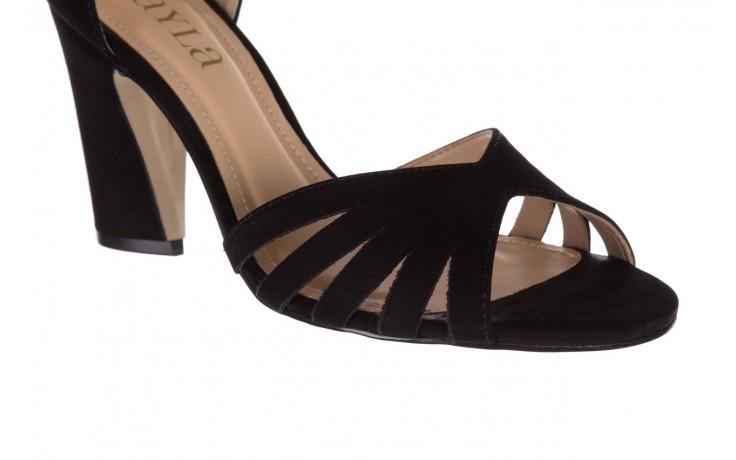 Sandały bayla-065 6140138 czarny, skóra naturalna  - rozmiar 36 - kobieta - mega okazje - ostatnie rozmiary 5