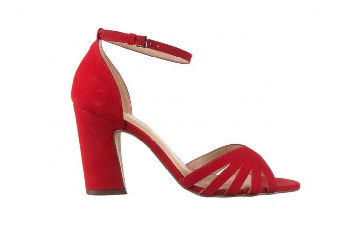 Sandały bayla-065 6140138 czerwony, skóra naturalna  - bayla - nasze marki