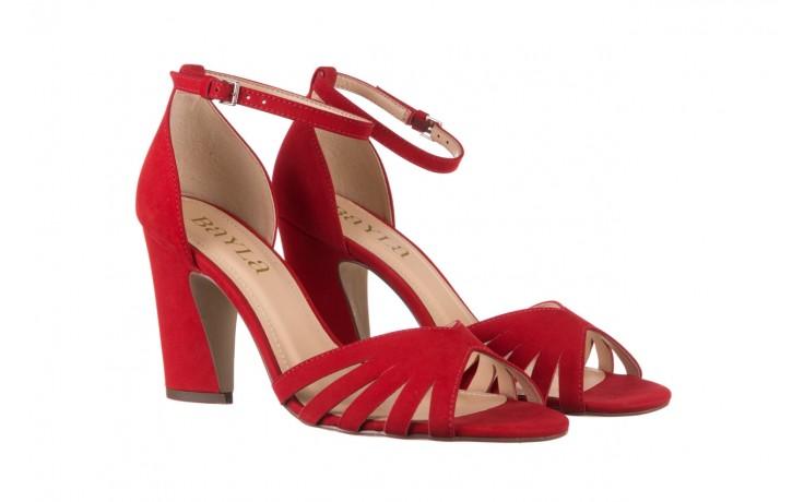 Sandały bayla-065 6140138 czerwony, skóra naturalna  - bayla - nasze marki 1