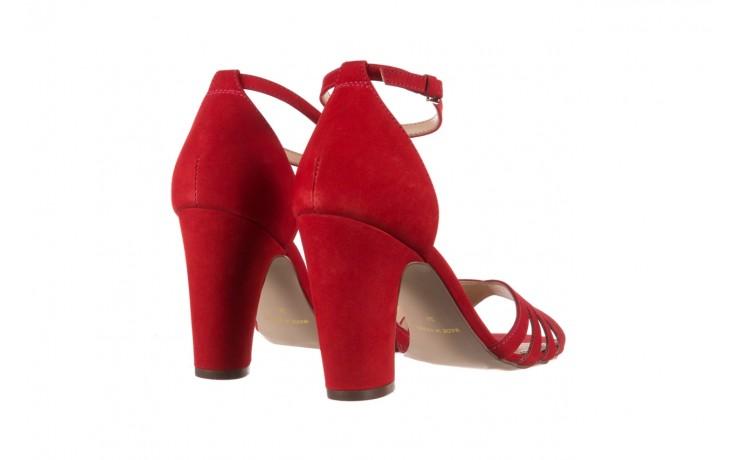 Sandały bayla-065 6140138 czerwony, skóra naturalna  - bayla - nasze marki 3