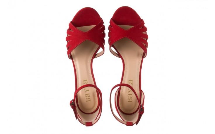Sandały bayla-065 6140138 czerwony, skóra naturalna  - bayla - nasze marki 4