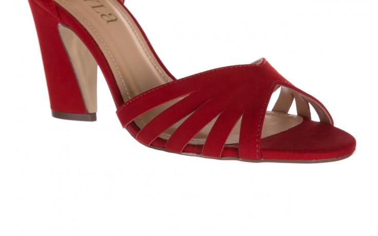 Sandały bayla-065 6140138 czerwony, skóra naturalna  - bayla - nasze marki 5