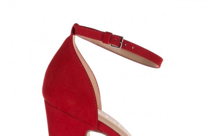 Sandały bayla-065 6140138 czerwony, skóra naturalna  - bayla - nasze marki 6