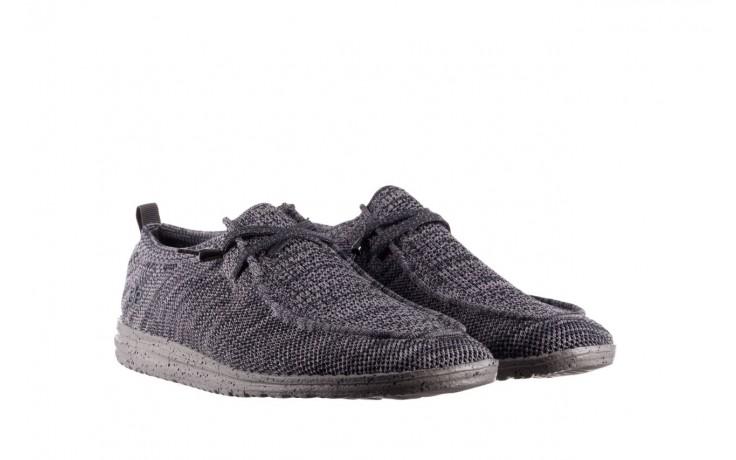 Półbuty heydude wally knit multi grey, granat/ szary, materiał  - trendy - mężczyzna 1