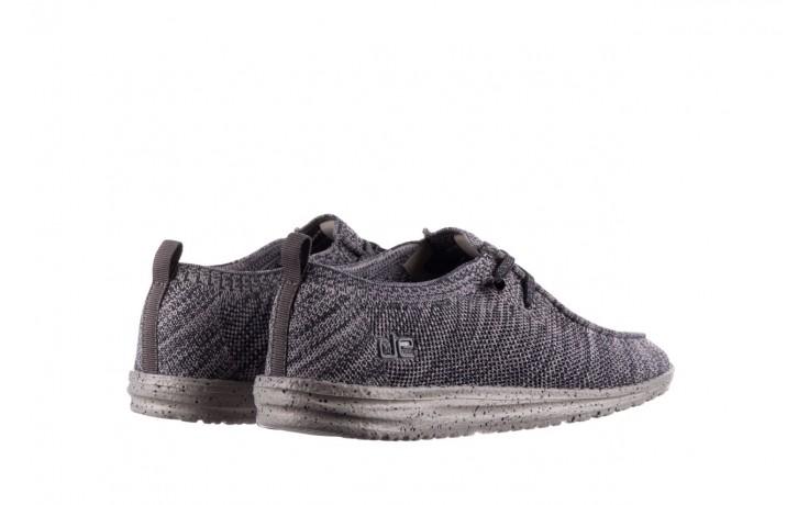 Półbuty heydude wally knit multi grey, granat/ szary, materiał  - trendy - mężczyzna 3