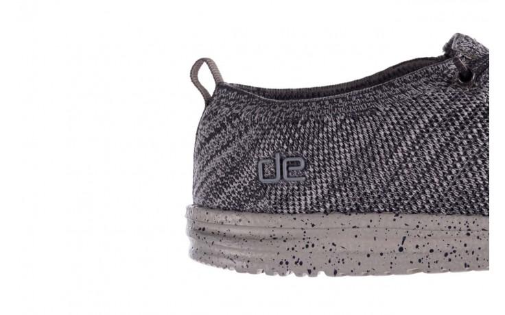 Półbuty heydude wally knit multi grey, granat/ szary, materiał  - trendy - mężczyzna 6