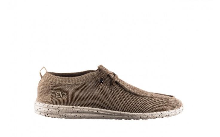 Półbuty heydude wally knit beige, beż, materiał - sportowe - półbuty - buty męskie - mężczyzna