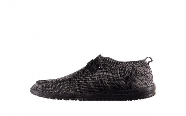 Półbuty heydude wally knit black white, czarny/ biały, materiał - trendy - mężczyzna 2
