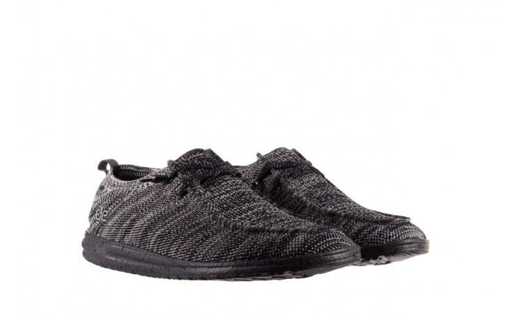 Półbuty heydude wally knit black white, czarny/ biały, materiał - trendy - mężczyzna 1