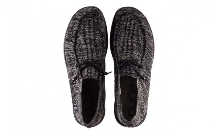 Półbuty heydude wally knit black white, czarny/ biały, materiał - trendy - mężczyzna 4